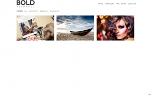 Bold Portfolio Page